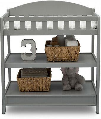 Changing Table W/ Pad Child Baby Diaper Nursery Furniture Multicolor