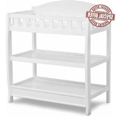 children baby diaper changing table with pad