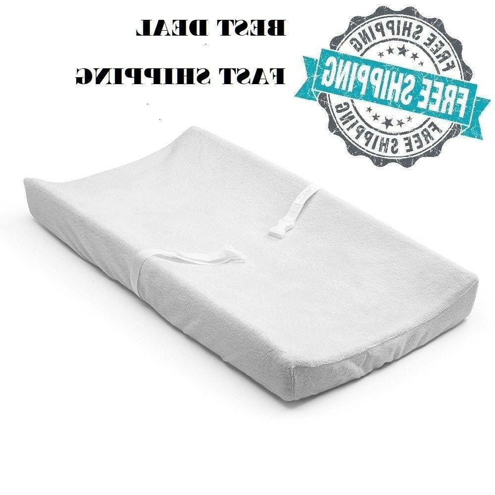 contoured changing pad 2 sided contour white
