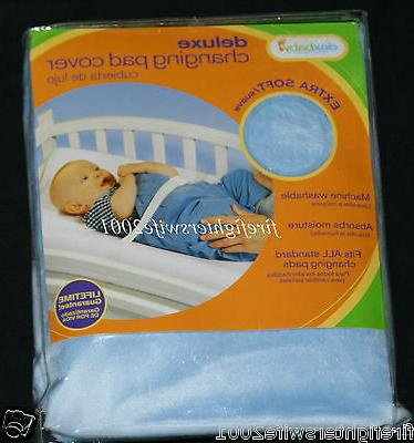 deluxe changing pad cover blue baby boy