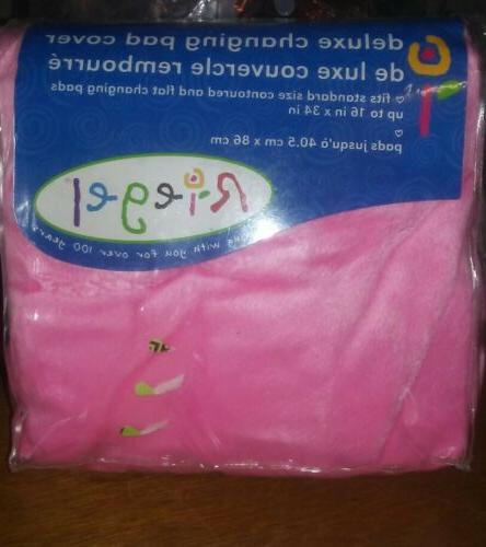 deluxe changing pad cover pink brand new
