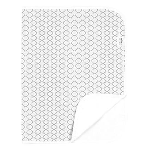 deluxe white gray change pad