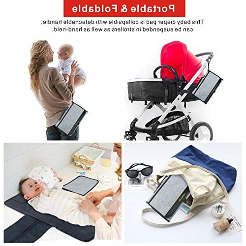 Diaper Pad Portable Station Diaper with by Idefair