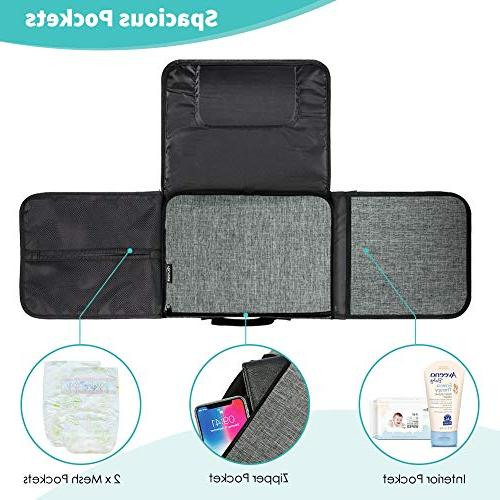 Diaper Infant Changing Mat, Diaper Clutch for Foldable Baby Changing with - Waterproof