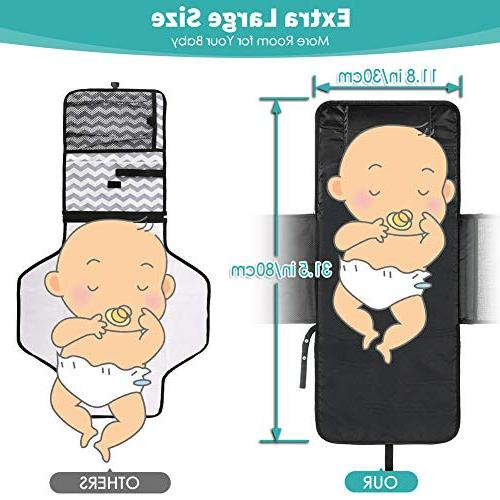 Volador Diaper Changing Pad Infant Diaper Clutch Travel, Foldable Baby with Waterproof - Lightweight