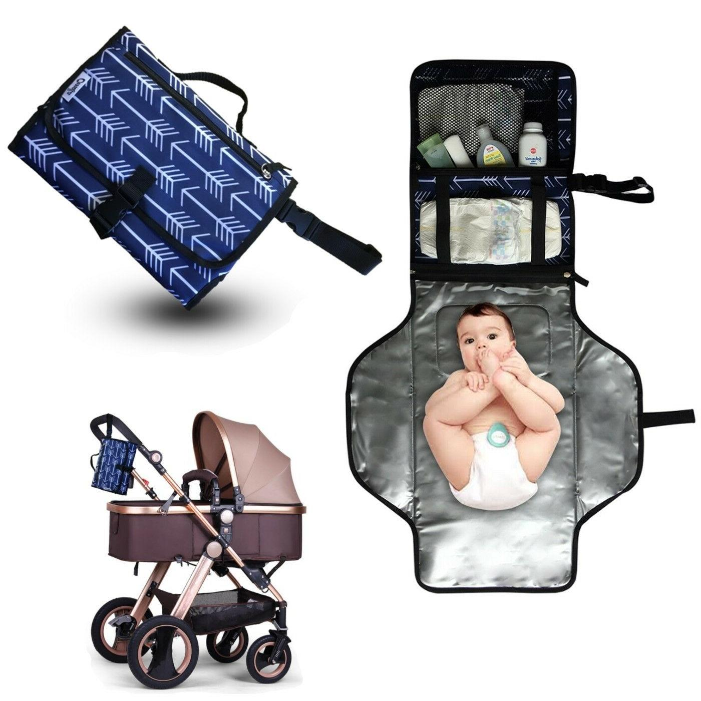 diaper clutch portable baby changing pad station