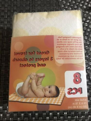 Disposable Baby Pads 8 Pcs Absorb In In