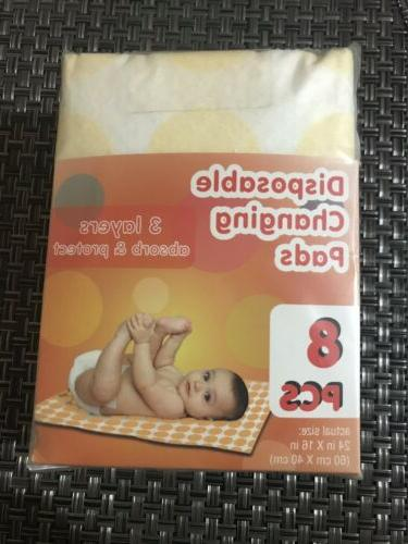 disposable baby changing pads 8 pcs 3