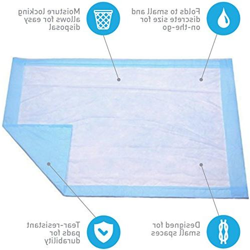 Disposable Baby Changing Liner Economy Pack 50 Count - Absorbent Blue for Incontinence Protector by
