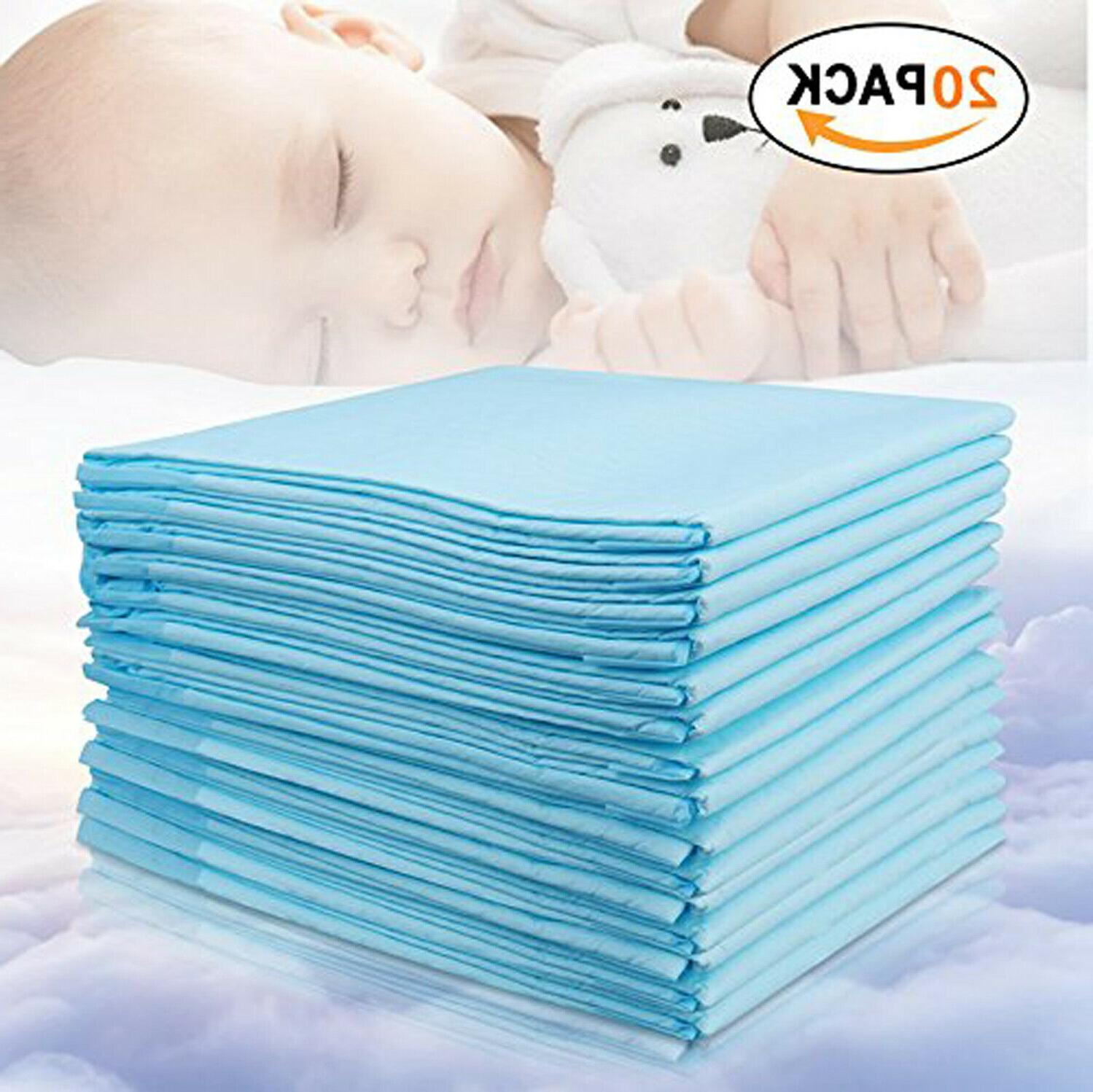 Baby Disposable 20Pack Soft Portable Diaper Changing Table & Underpads Sheet Protector
