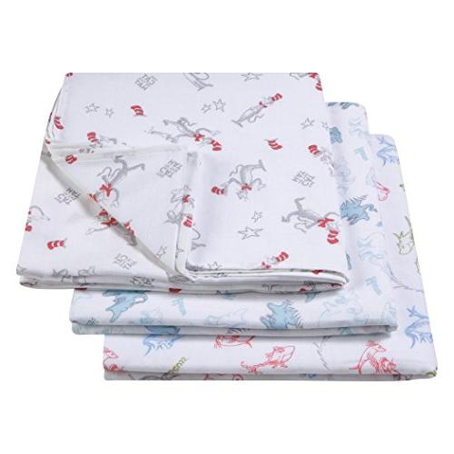 dr seuss muslin swaddle blanket