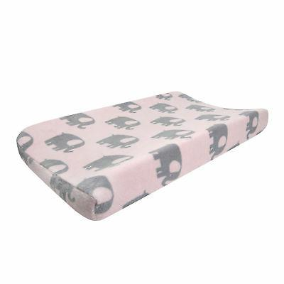 eloise pink gray elephant diaper changing pad