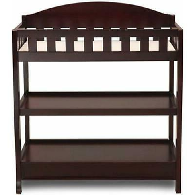 Espresso Changing Table Pad Diaper Nursery Furniture