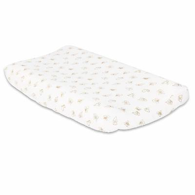 gold butterfly baby changing pad cover by