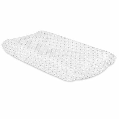 grey diamond baby changing pad cover by