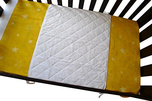 iLuvBamboo Crib Waterproof Bamboo - Soft with Long Baby's Mattress. of as Newborn Twin Babies Sleep Larger than Other Crib Pads