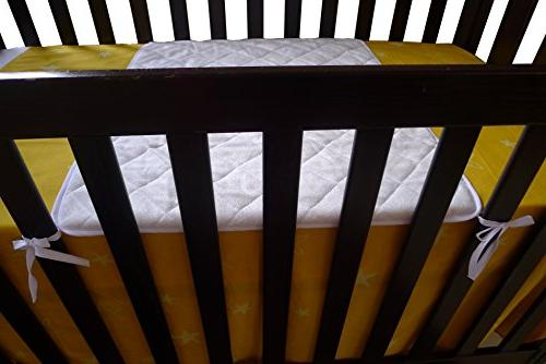 iLuvBamboo Waterproof Bamboo Sheet - Soft Cover with Long Ties for Baby's Newborn Twin Sleep - Other Crib