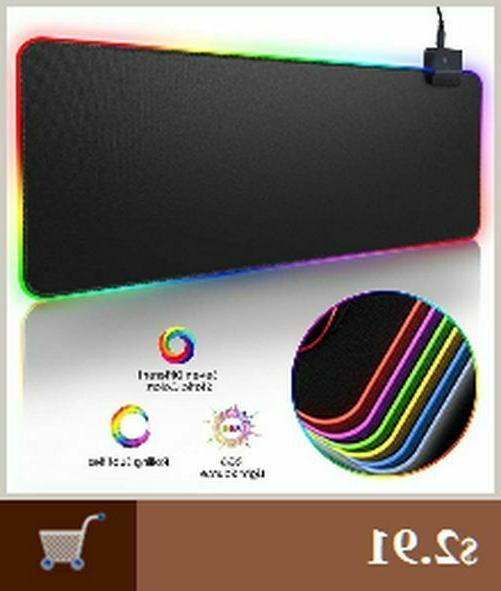 Led Gaming Mouse Pad With Lights Light Up Large Extented