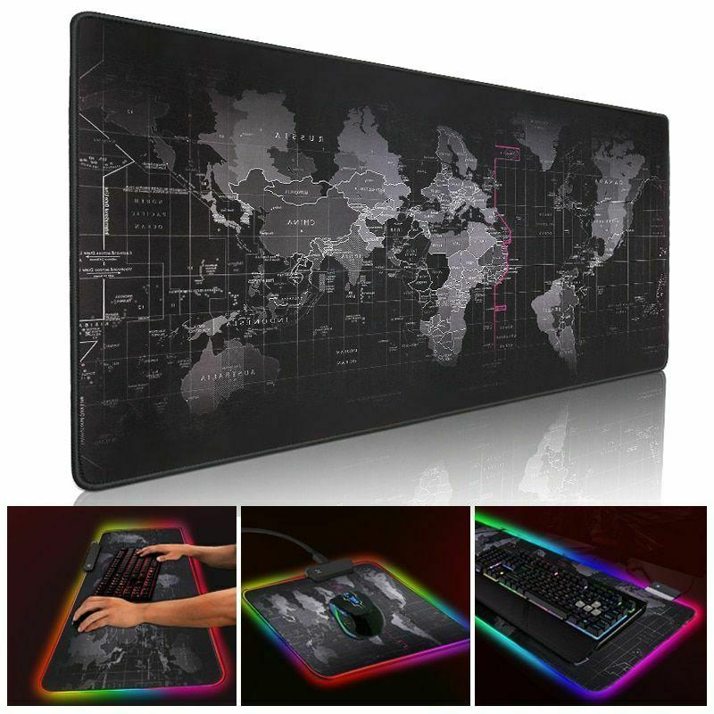 led gaming mouse pad with lights light
