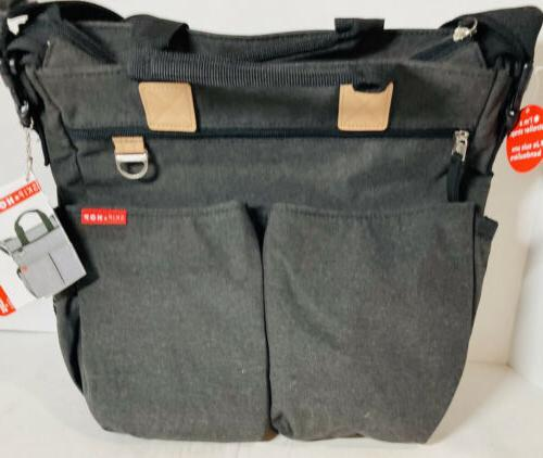 messenger diaper bag w changing pad duo