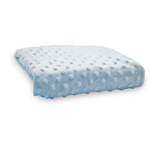 minky dot changing pad cover blue compact