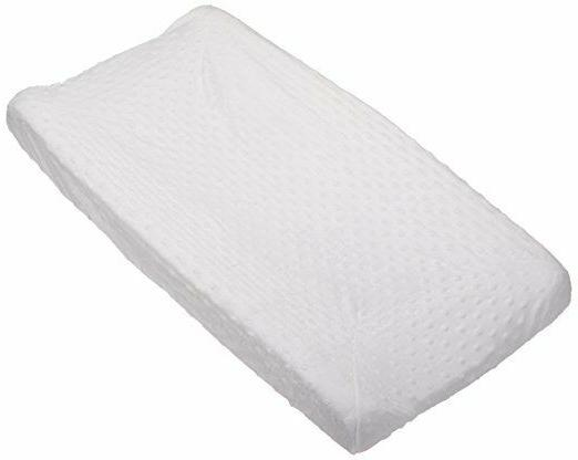 minky dot changing pad cover white compact