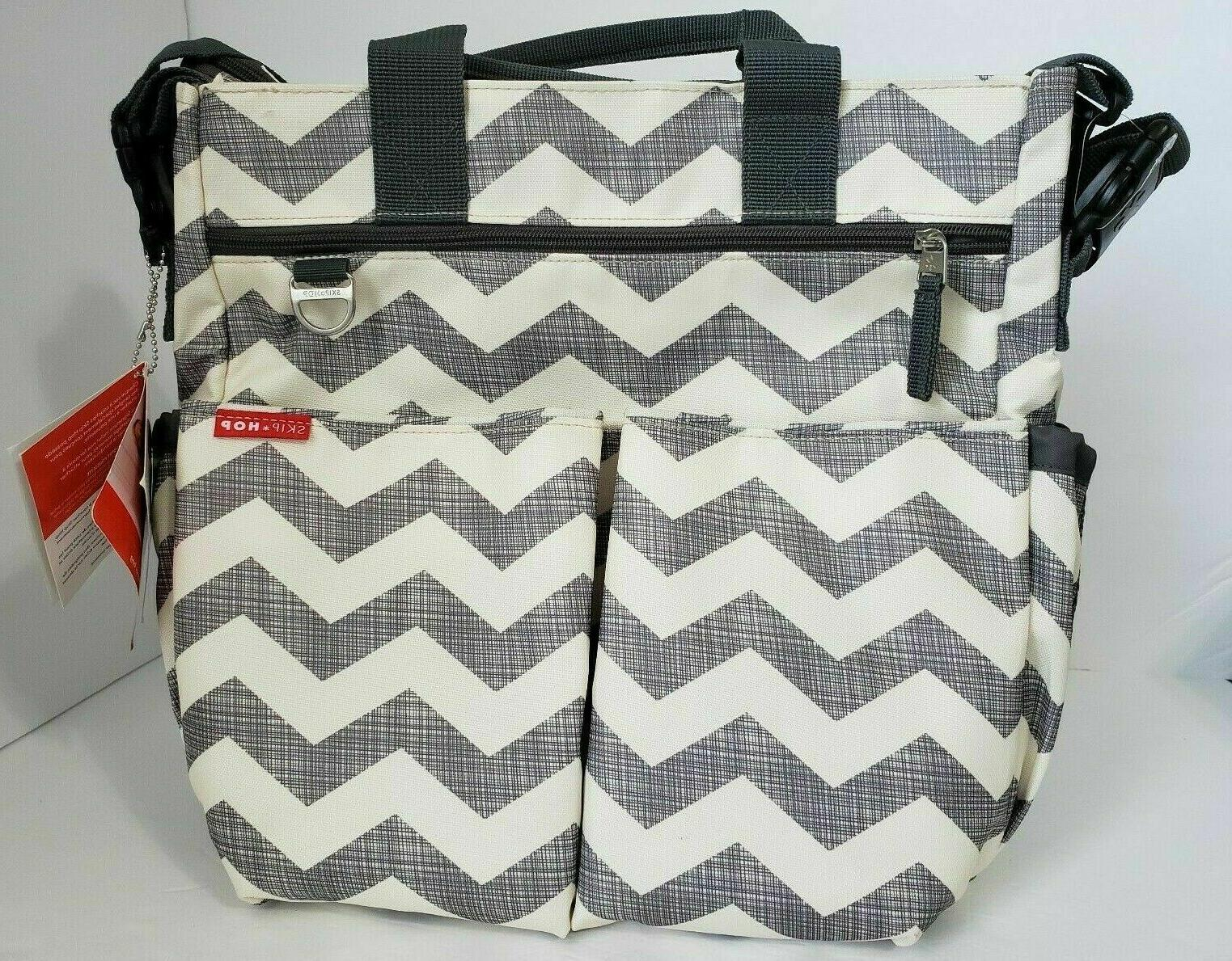 New Skip Hop Messenger Diaper Bag W/ Matching Changing Pad,