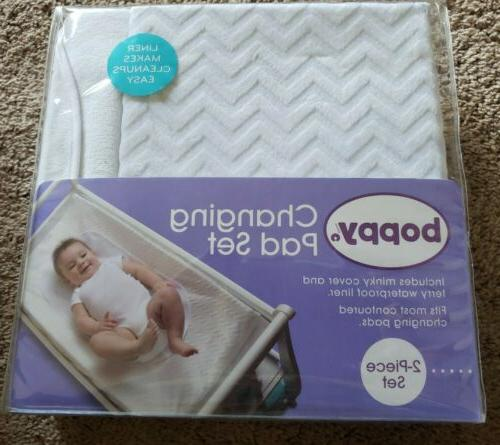 nwt baby infant changing pad cover chevron