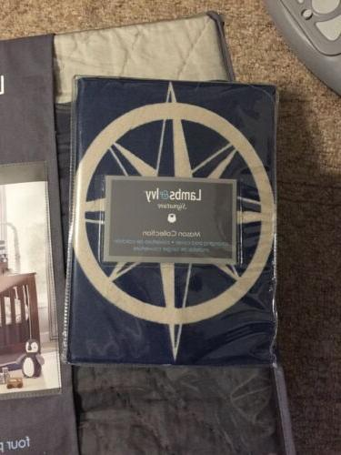 NWT Lambs & Ivy Mason Collection Blue Baby Blanket changing pad