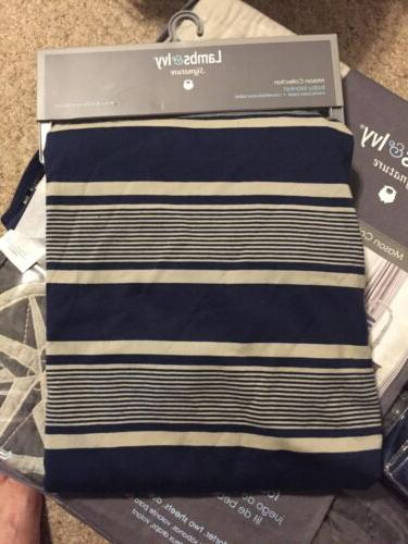 NWT & Ivy Mason Collection Blue Beige Baby Blanket changing pad