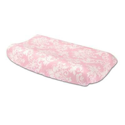 pink floral damask 100 percent cotton changing