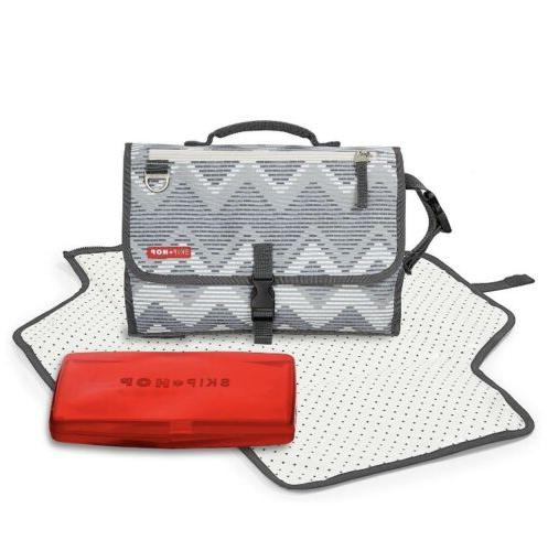 portable cushioned diaper changing pad built in