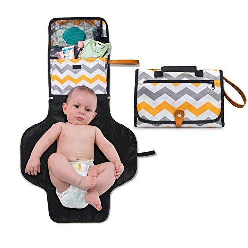 Portable Pad Cocoon Kids - Organizer to Mom's Detachable Mat for Trips Nursery Changing Pad at