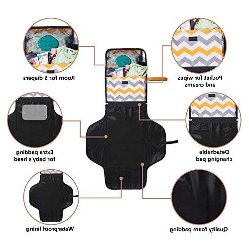 Portable Baby Diaper Changing Pad Station Kids - Organizer Bag to Make Mom's - Detachable Mat for Nursery Table at
