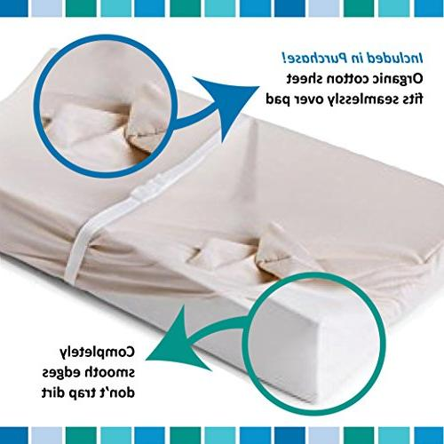 Moonlight Diaper Hand Organic Cotton Cover: Waterproof Contoured Pad & Mounting Straps. Made in