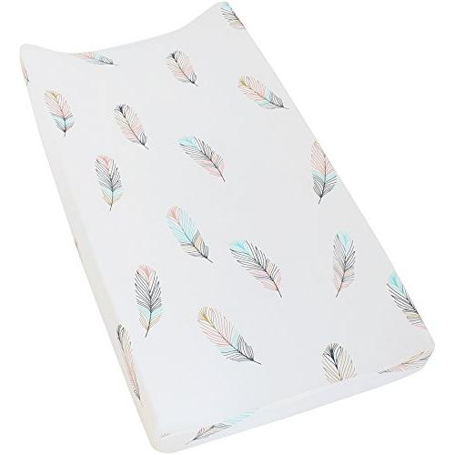 premium cotton diaper changing pad cover feather
