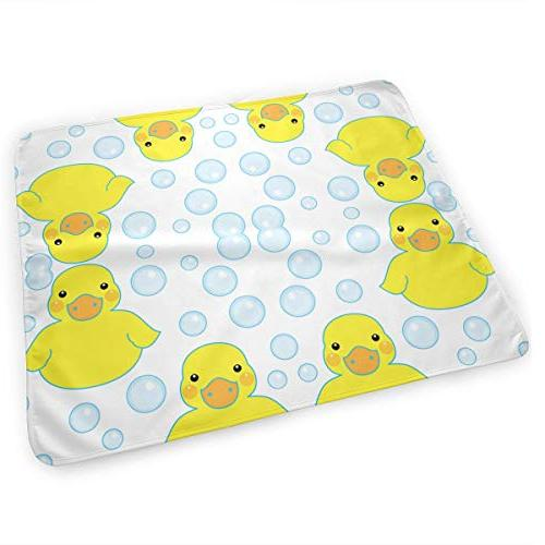 rubber ducks bubbles changing pad