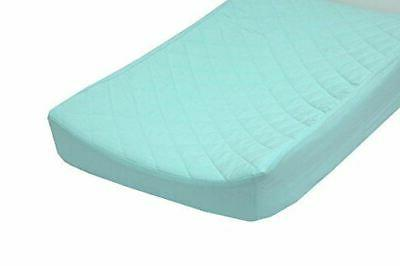 solid cotton quilted changing pad cover fits