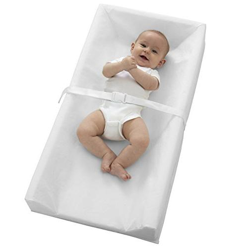 """Sealy Contoured Diaper Changing Table, 32"""" x with Easy to Waterproof Safety Straps, PVC-Free,"""