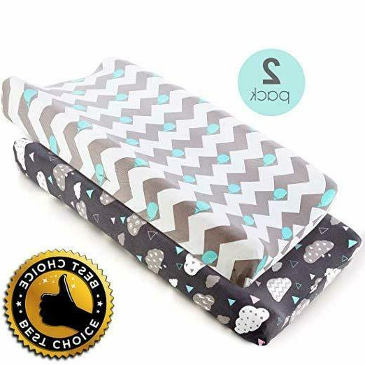 stretch fitted changing pad cover 2 pack