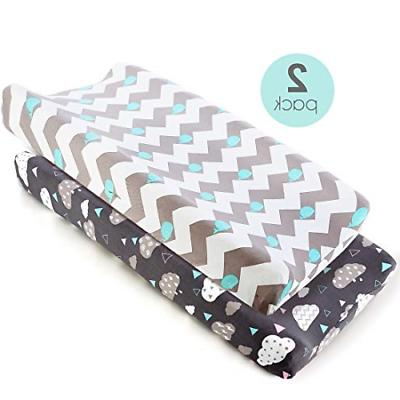 stretch fitted changing pad cover