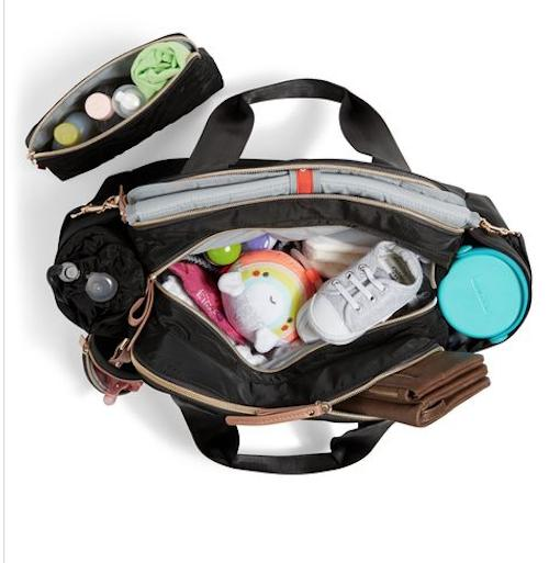 Suite 6-In-1 Diaper Satchel Tote Changing Pad