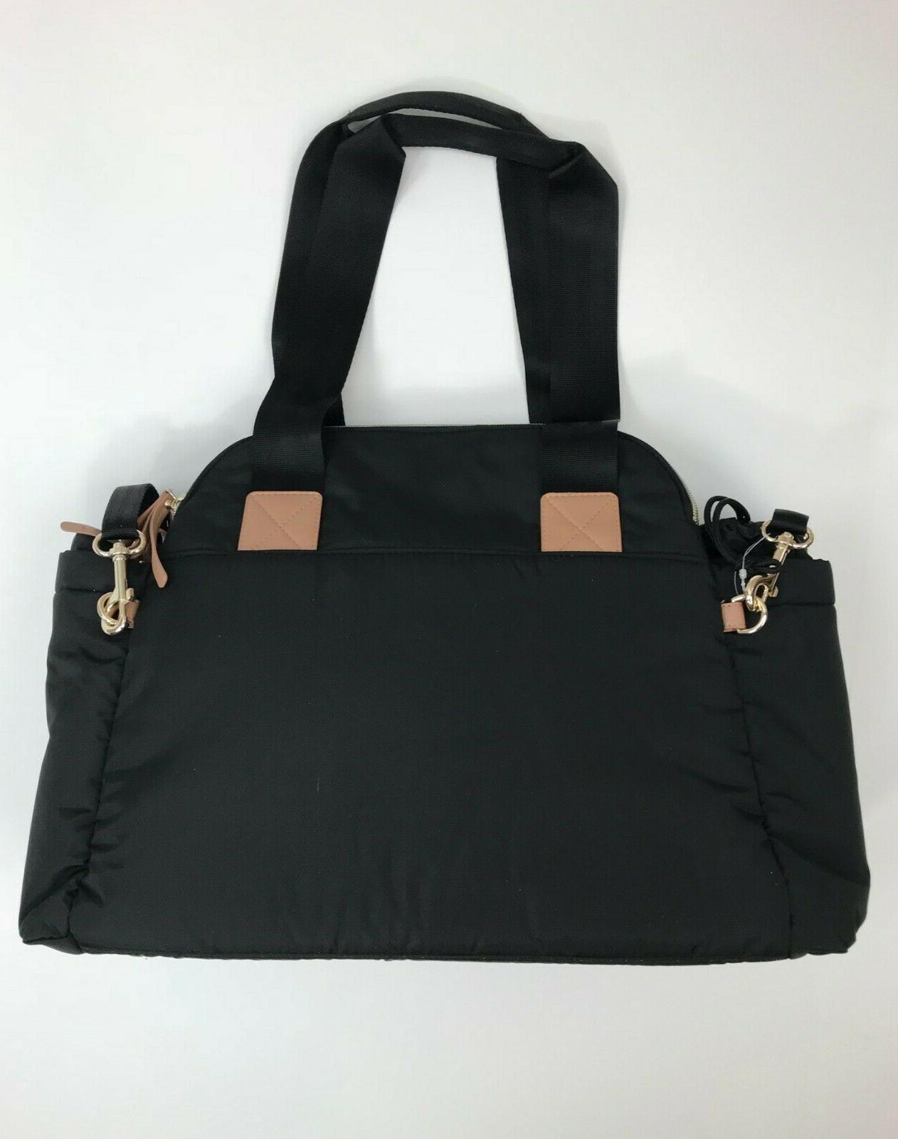 Suite By 6-In-1 Diaper Satchel Tote NWT Black Changing Pad