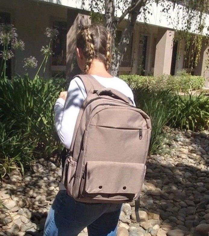 tan diaper backpack extra large w changing