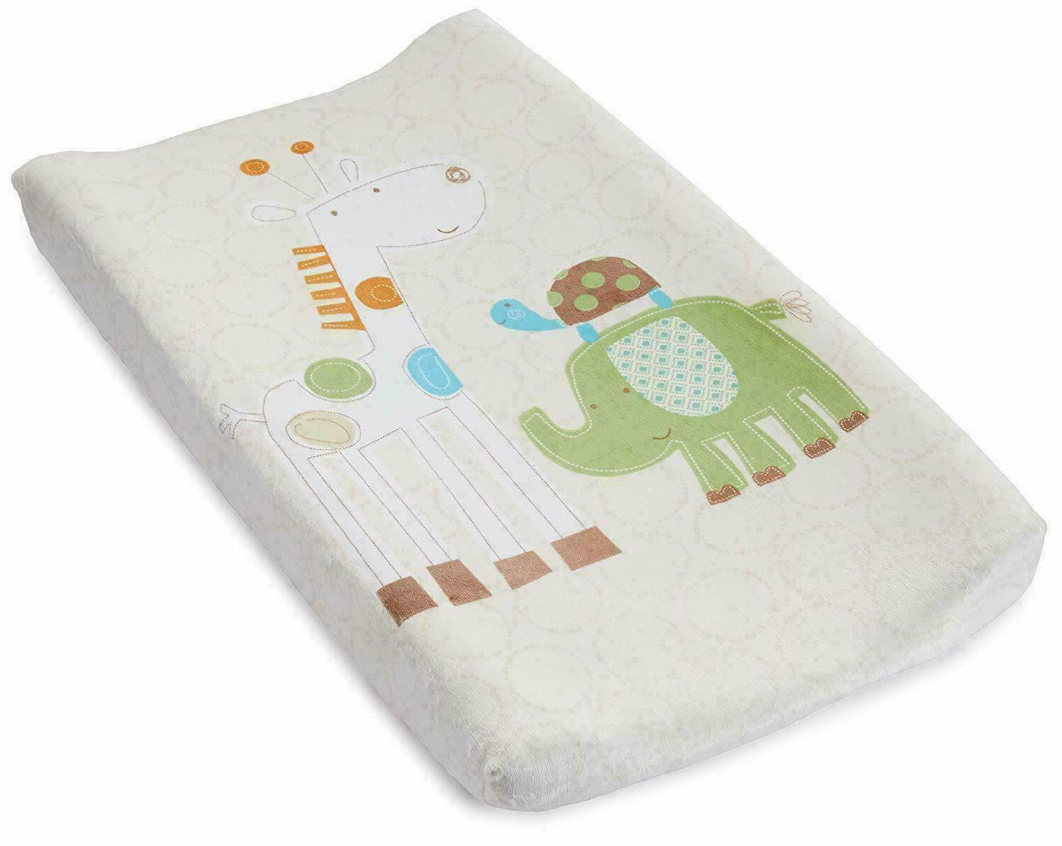 ultra plush character changing pad cover safari