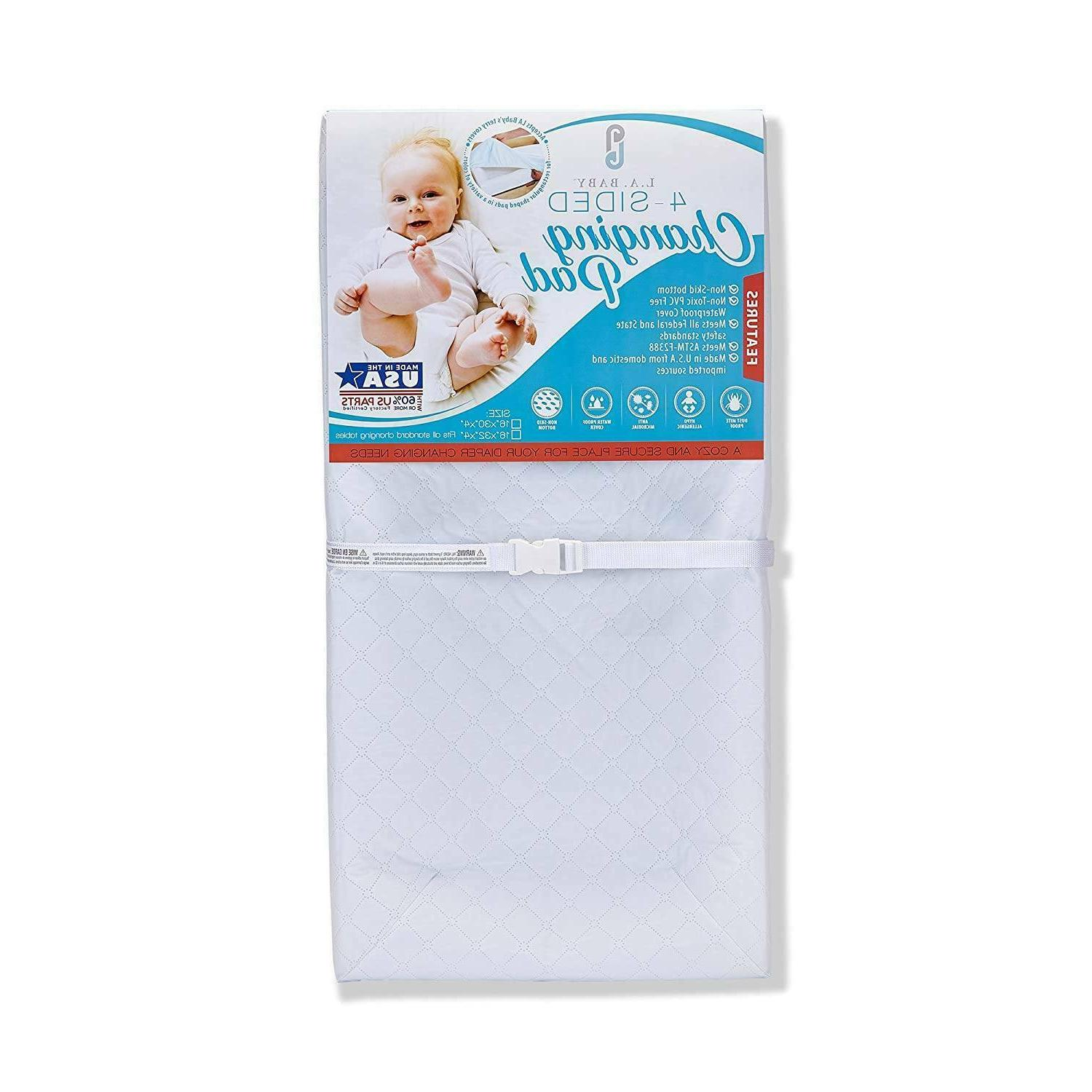 waterproof 4 sided changing pad 32 made