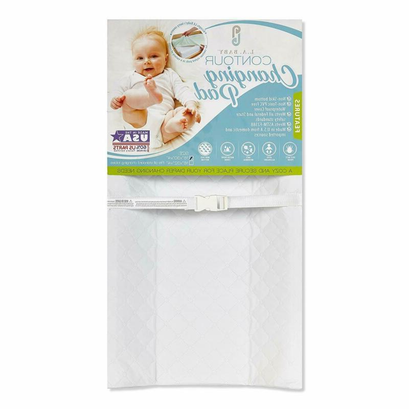 "LA Baby Waterproof Contour Changing Pad, 30"" - Made in USA."