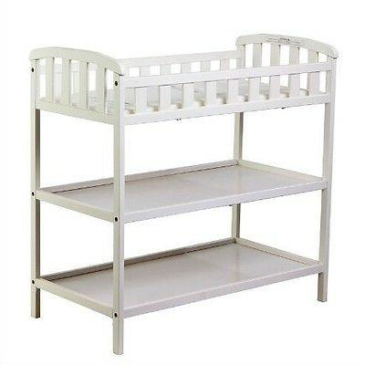 white baby diaper changing table with 1