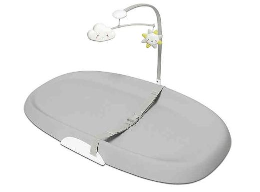 wipe clean changing pad in light grey