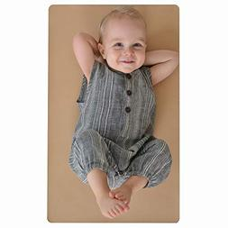 Leather Baby Diaper Changing Mat - Portable, Wipeable & Reus